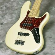 Fender American Deluxe Jazz Bass Scn Alder Olympic White Pearl Bass Guitar