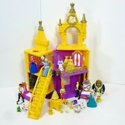 Magiclip Doll Lot Princess Belle Deluxe Castle Beauty And The Beast Playset Mattel