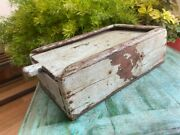 Old Antique Wooden Hand Crafted White Painted Indian Kitchenware Spice Box