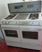 Vintage O'keefe And Merritt Four Burner Stove With Double Oven And Griddle - Tlc