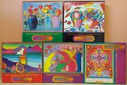 New 5 Peter Max 1000 Piece Jigsaw Puzzle Lot 3340-1, -2, -3, -4, -6 1999 Ceaco