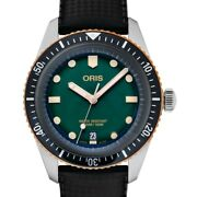Oris Divers 01 733 7707 4357-07 4 20 18 Green Dial Menand039s Watch Genuine