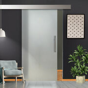 36and039 X 84 Sliding Frosted Glass Barn Door Full-private 30 Off