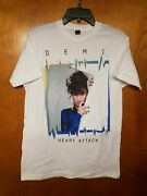 Demi Lovato Shirt Heart Attack Short Sleeve Large Live Concert Tour Exclusive