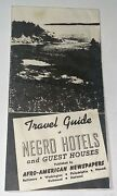 Rare Antique Travel Guide Negro Hotels And Map Afro American Newspaper C.1942 Trip