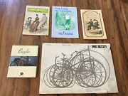 Lot Of 5 Bicycle Vintage Antique Bike Books/pamphlets- Early Bicycles Crossfiet