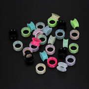 28× Thin Silicone Ear Gauges Plugs Flesh Tunnels Double Flared Expander 2g-3/4