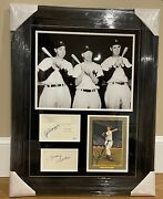 Mickey Mantle Ted Williams Joe Dimaggio Signed 11x14 Autograph Psa Dna And Jsa Coa