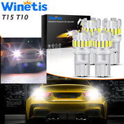 Winetis 194 168 W5w 2825 192 Super Bright White 14smd T10 Wedge Led Light Bulbs