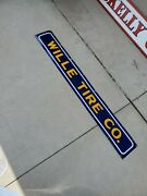 Rare Goodyear Wille Tire Advertising Sign Porcelain