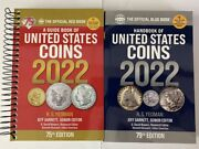 2022 Red Book Price Guide Spiral And 2022 Blue Book Handbook Of U.s. Coins