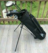 Nice Mens Complete Golf Club Set And Bag, Mostly Adams, Good Condition