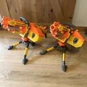 Two Nerf Vulcan Ebf-25 Dart Blaster Gun 1 Complete Tested/working And 1 Parts Only