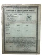1934 Ford Roadster Paperwork Document Free Shipping
