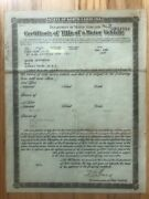 1936 Ford Cabriolet Paperwork Document Free Shipping