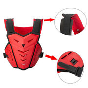 Red Motorcycle Chest Guard Downhill Body Armour Spine Gear Sport Mtb Protector