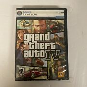 Grand Theft Auto Iv Gta 4 Pc Cd-rom Video Game Complete W/manual And Maps.