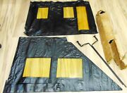 Nm Reduced 1923-25 Ford Model T Touring Side Curtains And Support Rods Windows