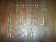 Group Lot Of Vintage Hammered Copper Platted Hinges And Pulls Arts And Crafts Style
