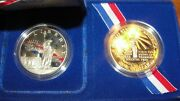 Us Mint Statue Of Liberty Silver Dollar Coins. Two Coin Set.