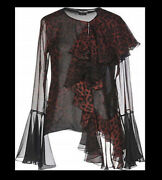 Tom Ford Sheer Leopard Print Silk Blouse Top- With Tags- Rrp 3,100 Aud