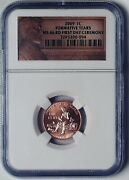 2009 Lincoln Bicentennial Formative Years Reverse Ms66rd Penny 1 Cent Ngc 1st Da