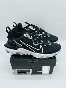 Nike Womenand039s Nsw React Vision Ess Sneaker Black And White