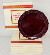 6 Avon Cape Cod Red 10 3/4 Dinner Plates W/boxes