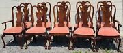 Thomasville Set Of 10 Mahogany Philadelphia Queen Anne Style Dining Chairs