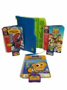 Leapfrog Leappad Learning System Model 57-000-01 With 3 Books And 3 Games Tested