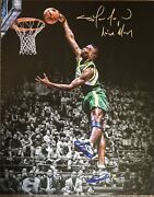 Shawn Kemp Signed 16x20 Framed Seattle Sonics Canvas Autographed Reign Man Insc.
