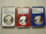 3 2018-w 1 American Silver Eagle Early Releases Ngc Pf70 Ultra Cameo