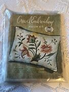 Vintage Elsa Williams Crewel Embroidery Kit Floral Pillow Kc316 New Opened Nice