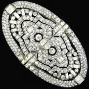 Knoll And Pregizer Germany Sterling Openbacked Rhinestones Duette Pin Or Clips