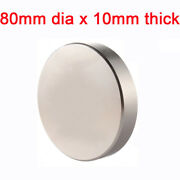 N35 Strong Magnets 80mm Dia X10mm Neodymium Disc Rare Earth Round Craft Magnet