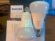 2 Pack Philips Hue White And Color Ambiance Smart Light Bulb. 3rd Gen Bluetooth