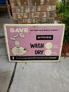 Vintage Laundry Mat Advertising Sign