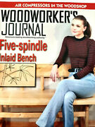 Woodworkers Journal Magazine October 2020 Air Compressors 5 Spindle Inlaid Bench