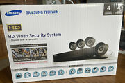 Samsung Techwin Dvr And 4 Camera Nib Hd Security System. Open Box But Never Used.