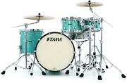Tama Starclassic Maple Mr42tzs 4-piece Shell Pack - Surf Green Silk With Chrome