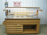 Arneg 72 Wood Olive Salad Bar Refrigerated Cold Buffet Table W/ Sneeze Guard
