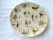 New - Williams Sonoma 12 Days Of Christmas Round Cookie Serving Platter - 13