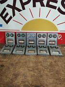 Lot Of 10 Vintage Post Office Box Doors With Combination Locks Small