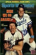 Mike Schmidt And George Brett Sports Illustrated Autograph Replica Poster