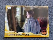 2016 Topps Star Wars Rogue One Jynand039s Departure Gold Squad Parallel/50jyn