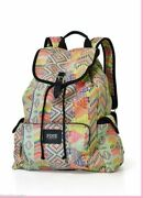 Victoria's Secret Pink Canvas Backpack School Travel Bag Tote Great Gift Rare