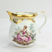 Exceptional Hand Painted Royal Vienna Porcelain Small Creamer - Ladies Pc