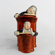 Antique English Staffordshire Or Pearlware Vicar And Moses Figurine - Pt