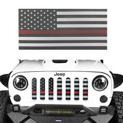America Flag Front Mesh Grille Inserts Cover Fits 07-18 Jeep Wrangle Jk And 2/4 Dr