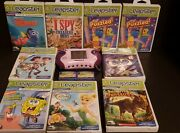 Leapfrog Leapster 2 Handheld Learning Game Pink System + 11 Games Untested
